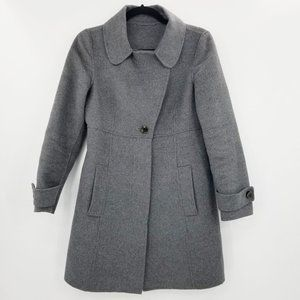 MaxMara Studio Grey Angora Wool Cashmere  Coat